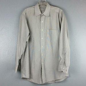 Brooks Brothers Mens Black White Check Shirt Sz 16